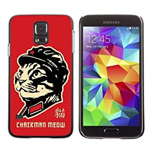 Designer Depo Hard Protection Case for Samsung Galaxy S5 / Chairman Cat
