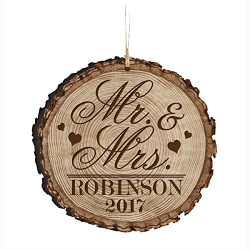 Personalized Christmas ornaments 2017 housewarming Gift ideas for Couple her him friends and parents 3.75