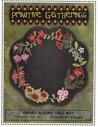 (Garden Blooms Table Mat Felted Wool Pattern 22