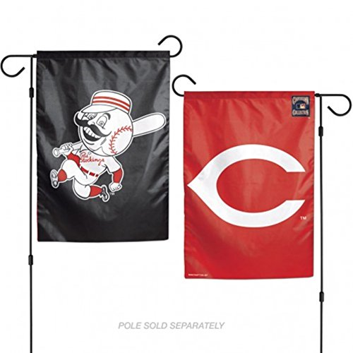 Stockdale Cincinnati Reds NO SCRIPT WC GARDEN FLAG Premium 2-sided Banner Outdoor Baseball ()