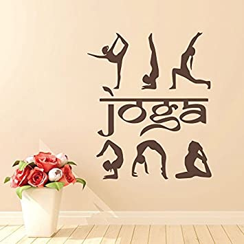 Amazon.com: Wall Decal Decor Yoga Wall Decal- Yoga Studio ...