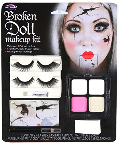 Broken Doll Face Makeup Kit (Halloween Porcelain Doll Makeup)