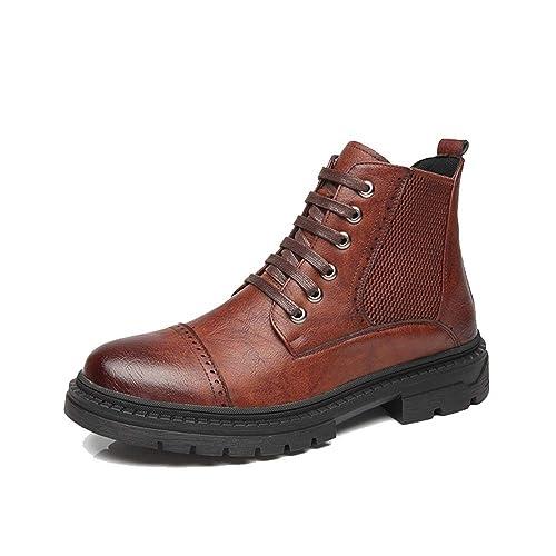 Zapatos de Hombre Botines de Moda para Hombre Casual Cómodo Tacón Alto Plano Superior Botas de Ocio clásicas: Amazon.es: Zapatos y complementos