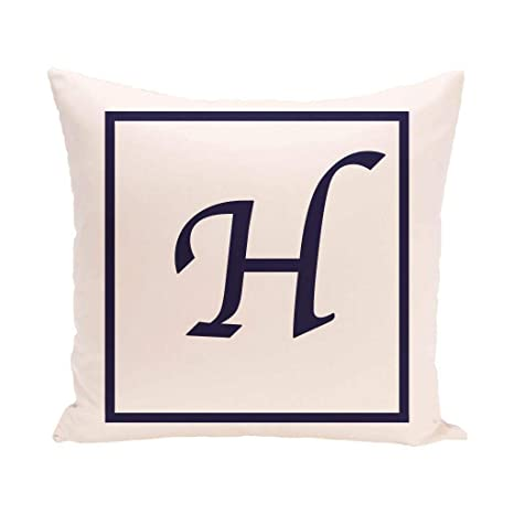 Amazon.com: 16x16 H Monogram Throw Pillow Letter H Printed ...