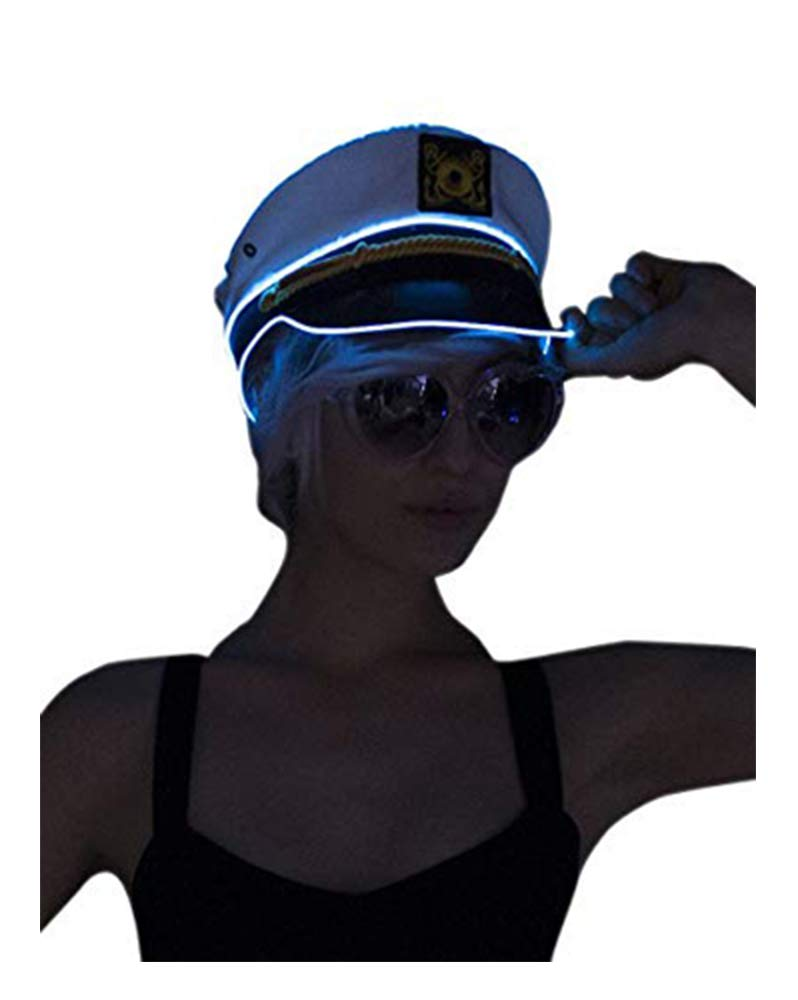 Electric Styles Sailor Hat - Lime Green LED
