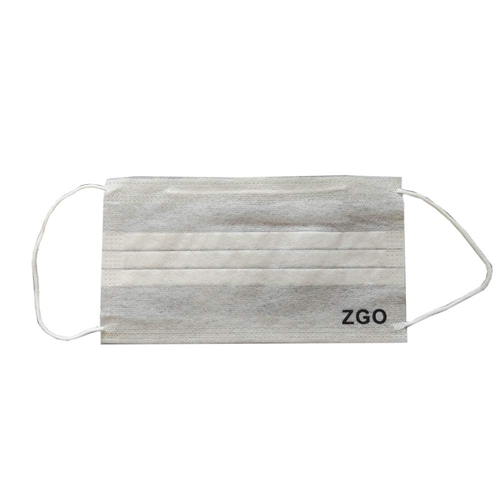 ZGO Disposable Face Masks Breathable Dust Filter Masks Mouth Cover Masks with Elastic Ear Loop White