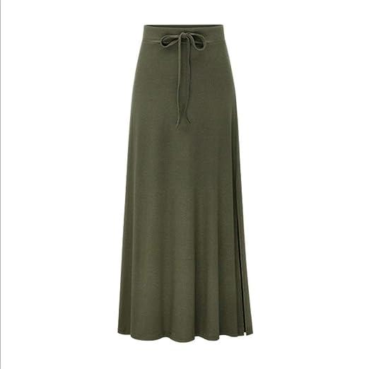 ERLIZHINIAN Falda de Las señoras Elegantes de la Manera Plisado ...
