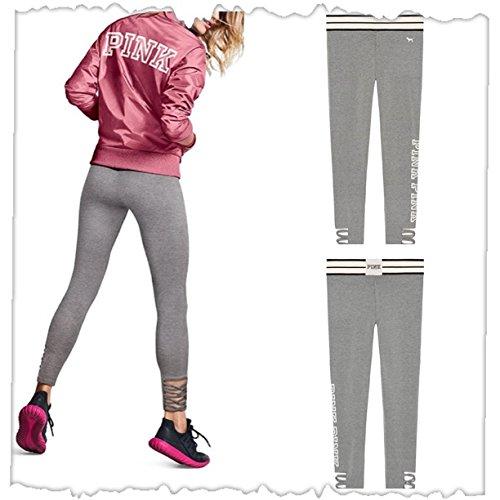 Victoria's Secret PINK Cotton Strappy Legging Clay Grey (...