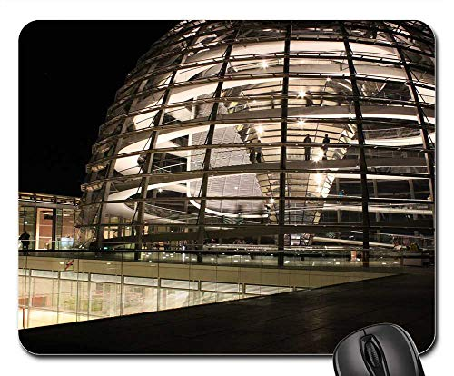 Berlin Government Buildings - Mouse Pads - Reichstag Glass Dome Government Building Berlin