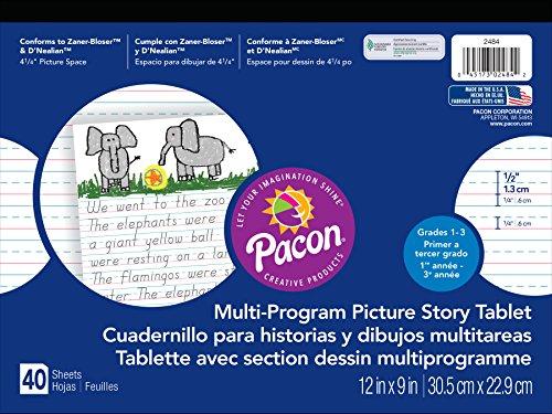 - Pacon  Handwriting Paper, D'Nealian Grades 1-3 / Zaner-Bloser Grade 2, 1/2