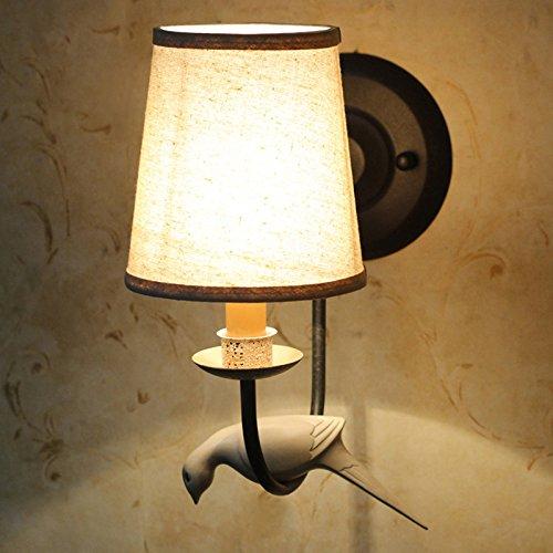 Lamp Lampe Couloir De Chevet Simple Style Murale Pastoral Birdie 80nwPkO