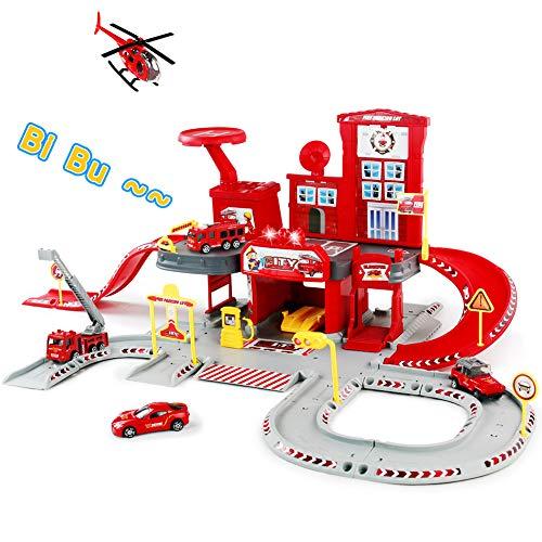 Fire Trucks Toy Garage