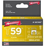 Arrow Fastener 591189 Genuine T59 Insulated Clear 5/16-Inch by 5/16-Inch Staples, 300-Pack