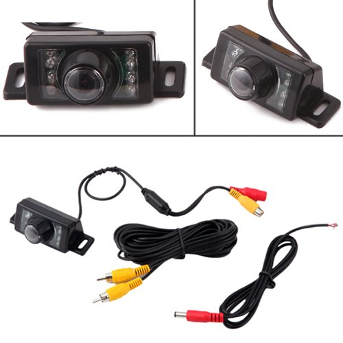 HDE Rear View License Plate Backup Camera Reverse Parking System Blind Spot Cam
