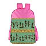 Africa American Girl Pattern Children School Backpack Carry Bag For Teens Boy Girls