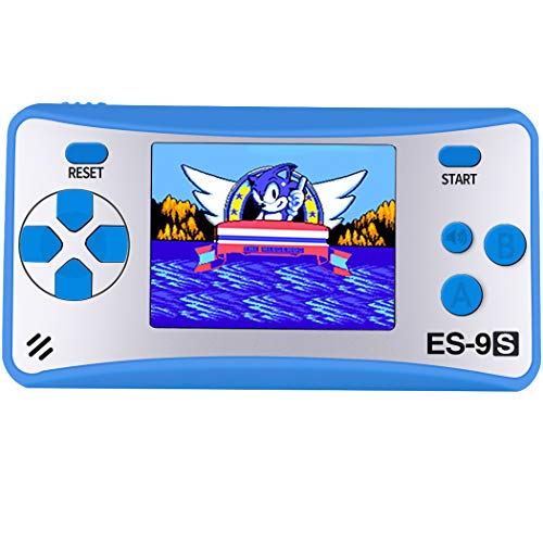 "Retro Handheld Games for Kids with Built in 168 Classic Video Games Device Mini Arcade Gaming Machines Portable Electronic Consoles 16 Bit 2.5"" Screen (Blue)"