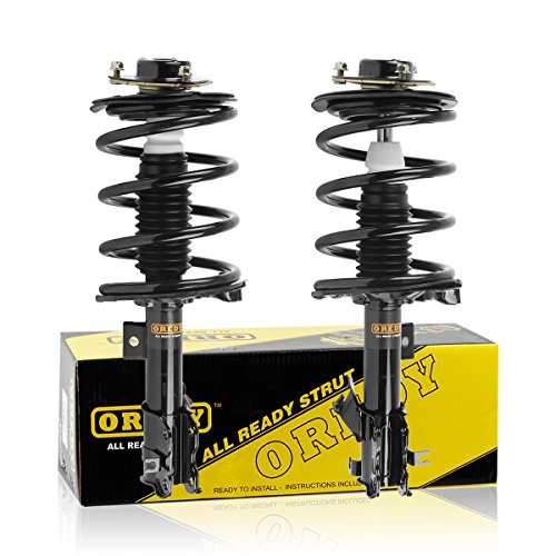 OREDY Front Pair 2 Pieces Complete Struts Coil Springs Mount Assembly Kit Shock Absorber 171426 171427 11592 11591 Compatible with 2002 2004 2005 2006 Altima FWD ()