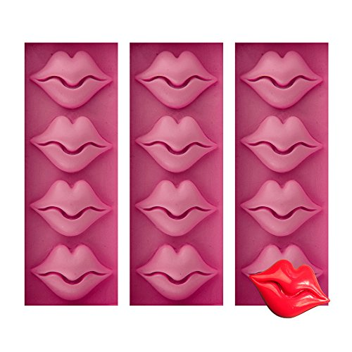 (Baidecor Sexy Lips Candy Mold Chocolate Molds Set of 3)