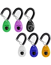 6Pack Dog Training Clicker with Wrist Strap - Durable Lightweight Easy to Use Dog Clickers Clicker Dog Training Clicker Training with Big Button, Effective Behavioral Training Tool for Puppy ,Cats Birds Horses