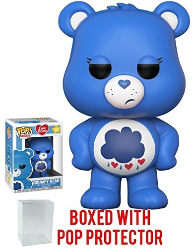Funko Pop! Animation: Care Bears - Grumpy Bear Vinyl Figure (Bundled with Pop Box Protector Case)