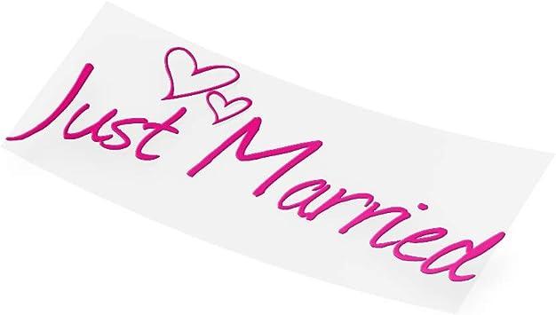 Just Married Hochzeits Autoaufkleber Jayess Auto