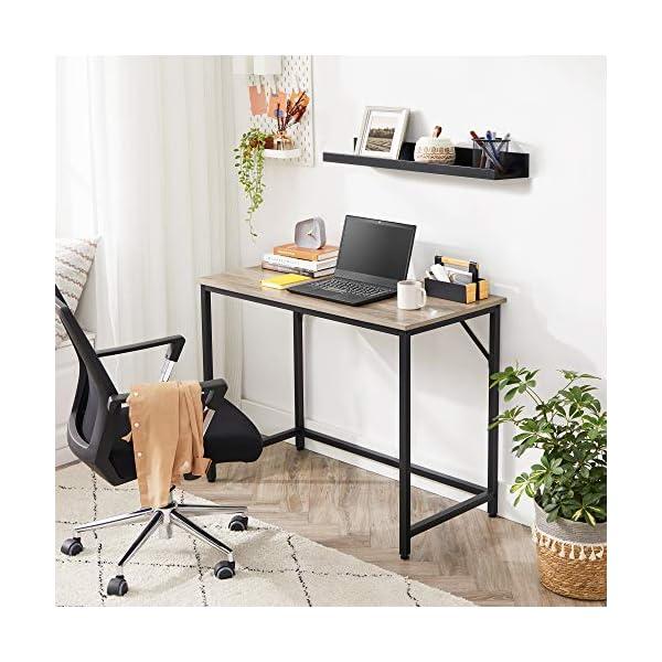 VASAGLE Bureau, Table, Poste de Travail, Petite Taille, 100 x 50 x 75 cm, pour Bureau, Salon, Chambre, Assemblage Simple…