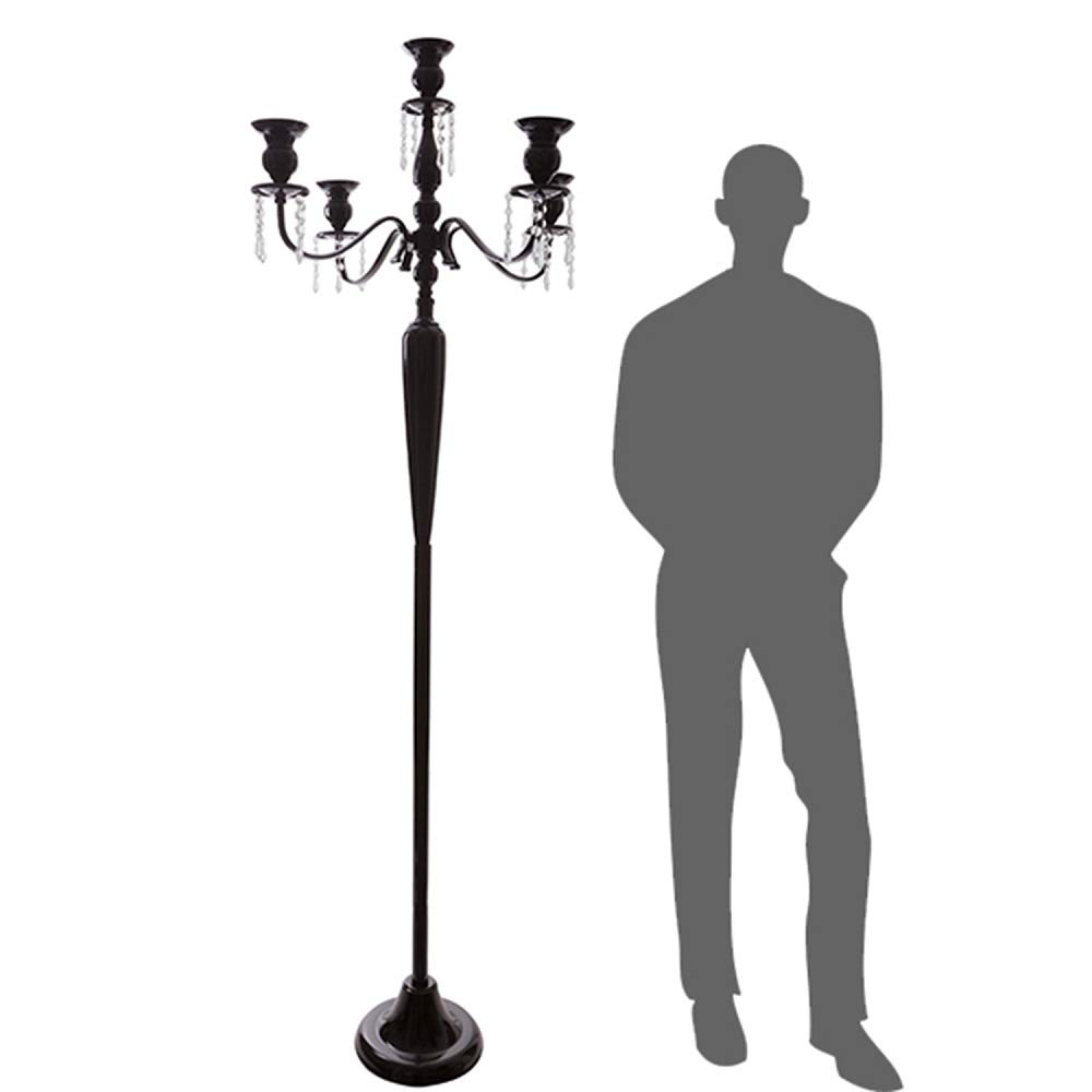 Event Decor Direct The Antiquity- Massive 6FT Tall 4-arm Candelabra in Black