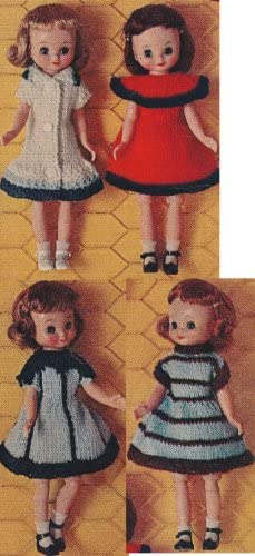 Vintage Knitting PATTERN to make NOT a finished item Betsy McCall Doll Clothes 8 This is a pattern and//or instructions to make the item only.