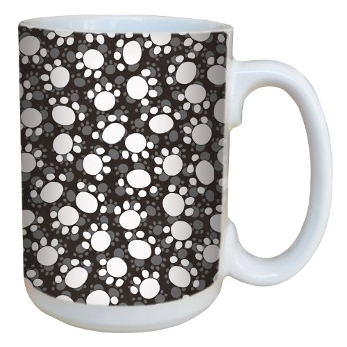 Tree-Free Greetings 79298 Paw Print by Debbie Mumm Ceramic Mug with Full-Sized Handle, 15-Ounce