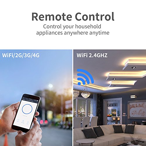 Smart Plug 4-Pack Upgraded Mini WiFi Smart Socket Outlet Work with Amazon Alexa Echo/Google Assistant and IFTTT, No Hub Required by KKUP2U by KKUP2U (Image #5)