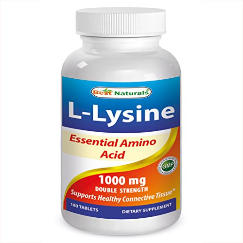 Best Naturals Lysine 1000mg 180 Tablets Double Strength Lysine for cats cold sores
