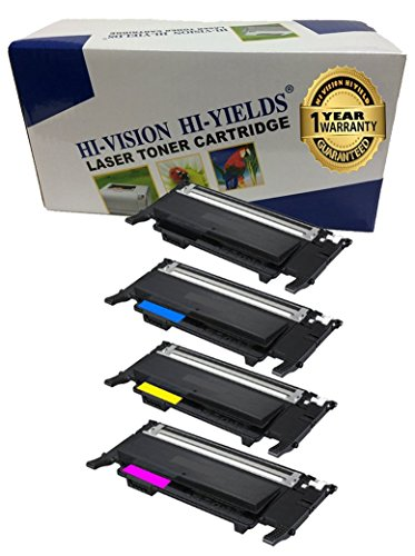 HI-VISION HI-YIELDS Compatible Toner Cartridge Replacement for Samsung CLP325 (1 Black, 1 Cyan, 1 Yellow, 1 Magenta, 4-Pack) (Samsung Clp 325w Toner compare prices)