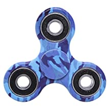 FIDGET DICE Hand Fidget Toy Spinners Stress Reducer with Ceramic Bearing (Camo Blue)