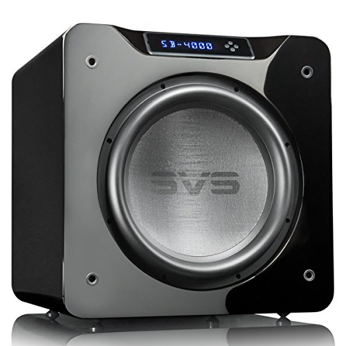 SVS SB-4000 Subwoofer (Piano Gloss Black) – 13.5-inch Driver, 1,200-Watts RMS, Sealed Cabinet, App Control (System Theater 1200 Watt Home)