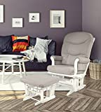 Dutailier Sleigh Glider-Multiposition, Recline and Ottoman Combo, WHITE FRAME/LIGHT GREY CUSHION Review