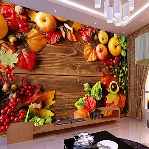Custom Photo Wallpaper Country Style Fresh Fruit Background Wall Supermarket Fruit Shop Living Room Decoration Wallpaper Mural ()