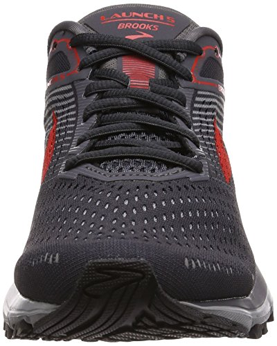 Launch Shoe 5 Grey Running Red Men's Brooks Ebony 5FxnP