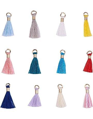 Hila/ï 6/cm en velours Tassel Pendentif breloque pour sac Craft Porte-cl/és Decor Lot de 12/color/é