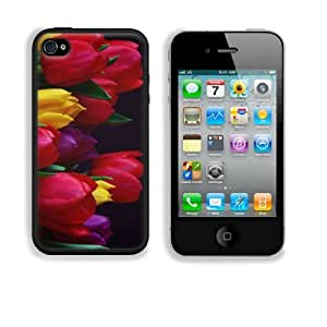 Colorful Tulip Bouquet in Vase Apple iPhone 4 / 4S Snap Cover Case Premium Leather Customized Made to Order Support Ready 4 7/16 inch (112mm) x 2 3/8 inch (60mm) x 7/16 inch (11mm) Liil iPhone4/4s Professional Cases Touch Accessories Graphic Covers Designed Model HD Template Designed Wallpaper Photo Jacket Wifi 16gb 32gb 64gb Luxury Protector Wireless Cellphone Cell Phone