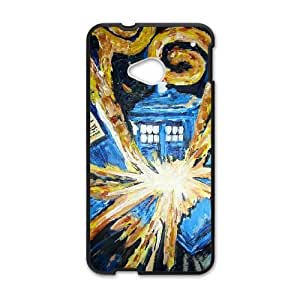 Protective TPU cover case Doctor Who 007 HTC One M7 Cell Phone Case Black