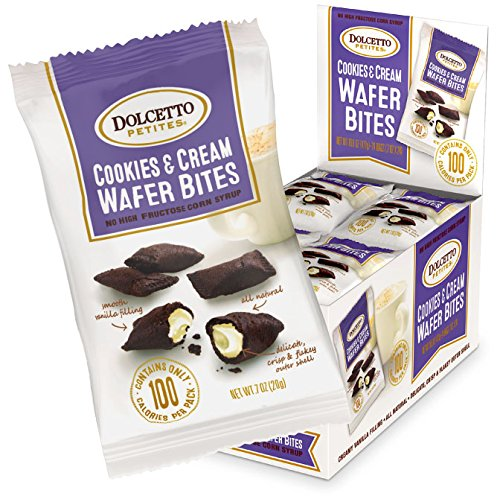 Dolcetto Cookies & Cream Wafer Bites, Cookies & Cream, 24 Count