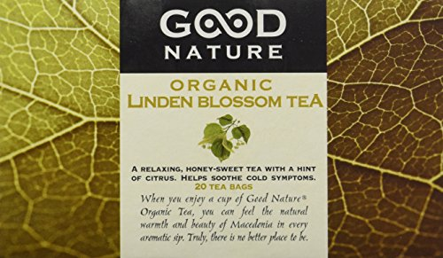 Lime Blossom Tea - Good Nature Organic Linden Blossom Tea, 1.07 Ounce, 20 tea bags