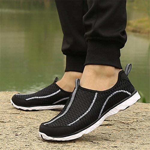 PENGCHENG Wasser Schuhe Für Männer Frauen Schnell Trocknende Slip-On Schuhe Mode Mesh Atmungsaktive Waten Leichte Sneaker Casual Outdoor Bequeme Liebhaber Schuhe Schwarz
