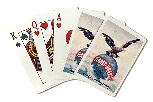 Italy - Fernet - Branca - Unici Produttori - Vintage Advertisement (Playing Card Deck - 52 Card Poker Size with Jokers) by Lantern Press