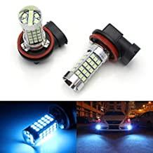 iJDMTOY (2) 10000K Ice Blue 68-SMD H11 H8 LED Bulbs For Fog Light Replacements