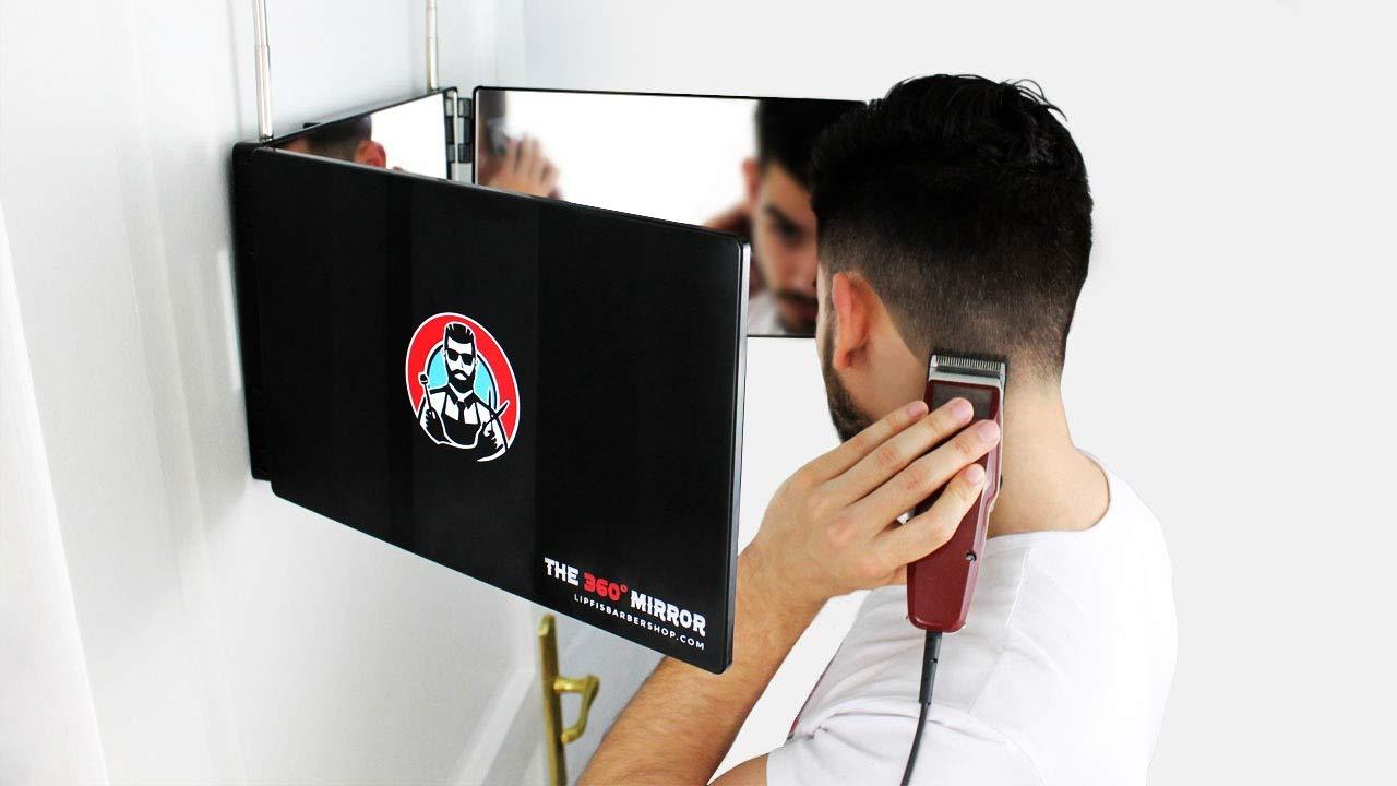 Lipfi's Barbershop Three Way Mirror For Cutting Hair