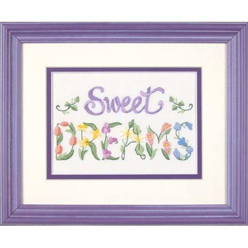 Dimensions Needlecrafts Crewel, Flowery Sweet - Home Sweet Home Crewel Kit