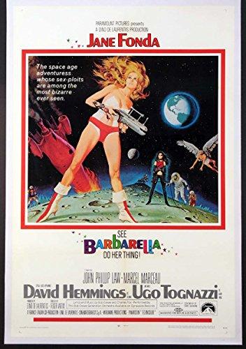 Barbarella Movie Poster –  Linen Backed