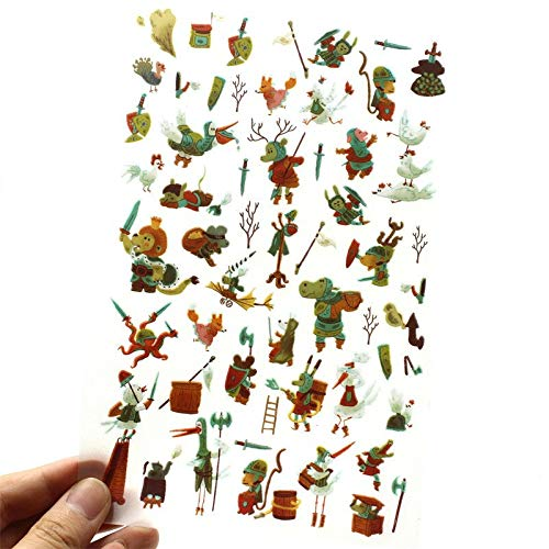 Journal Happiness Rub Scrapbooking Craft Cartoon Animals Rub On for Scrapbooking Happy Planner/Card Making/Journaling Project ()
