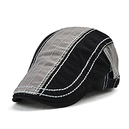 Retro Mens Cotton Embroidery Painter Berets Casual Outdoor Cap Visor Hat US